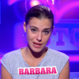 "Barbara lors de la quotidienne de ""Secret Story 11"" (NT1), mercredi 25 octobre 2017."