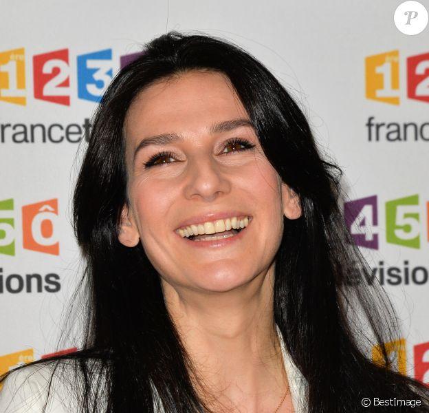 Marie Drucker lors du photocall de la présentation de la nouvelle dynamique 2017-2018 de France Télévisions. Paris, le 5 juillet 2017. © Guirec Coadic/Bestimage