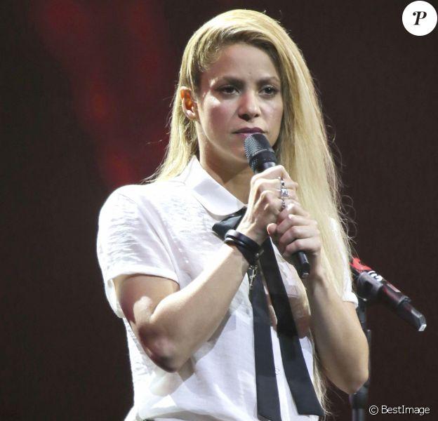 Shakira sur la scène de la Barclaycard Arena lors du Global Citizen Festival à Hambourg, le 6 juillet 2017. © Future-Image via Zuma Press/Bestimage