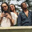 Jenaye Noah au Cameroun avec son papa Yannick Noah et sa soeur Yéléna. Photo postée sur Instagram en janvier 2017.