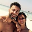 """""""Badri et Laëtitia Milot le 28 décembre 2016 aux Maldives."""""""
