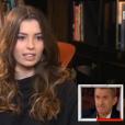"""Pauline, fille de Christophe Dechavanne, a fait pleurer son père dans """"Vivement dimanche"""", sur France 2, le 24 avril 2016."""