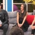 """""""Noré, Kamila et Charlène lors du prime de """"Secret Story 11"""" (NT1), jeudi 16 novembre 2017."""""""