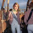 Miss Languedoc-Roussillon en Californie, le 20 novembre 2017 lors d'une activité montgolfière.