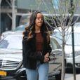 Malia Obama arrive aux bureaux de la Weinstein Company à New York, le 12 avril 2017, où elle est en stage.