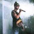 Le rappeur Lil Peep en concert. Novembre 2017.
