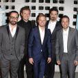 """AJ McLean, Kevin Richardson, Brian Littrell, Nick Carter, Howie Dorough à la première de """"Backstreet Boys: Show Em What You're Made Of"""" à Hollywood, le 29 janvier 2015."""