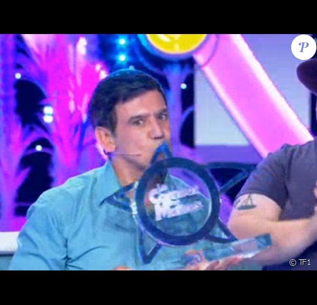 """Christian Quesada vainqueur des """" 12 Coups : Le combat des maîtres"""", sur TF1. Le 8 juillet 2017."""