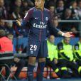 """Kylian Mbappé lors du match de Ligue 1 """"PSG - OL (2-0)"""" au Parc des Princes à Paris, le 17 septembre 2017. © Cyril Moreau/Bestimage"""