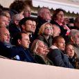 Tina Green, Jeremy Meek et sa fiancée Chloé Green assistent au match AS Monaco - PSG au Stade Louis II. Monaco, le 26 novembre 2017. © Bruno Bebert/Bestimage