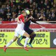 Kamil Glik et Neymar Jr. - Match AS Monaco - PSG au Stade Louis II. Monaco, le 26 novembre 2017.