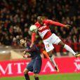 Javier Pastore et Djibril Sidibé - Match AS Monaco - PSG au Stade Louis II. Monaco, le 26 novembre 2017.