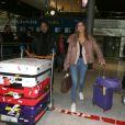 Semi-exclusif - Iris Mittenaere, Miss Univers 2016, arrive de Los Angeles à l'aéroport de Paris-Charles-de-Gaulle.