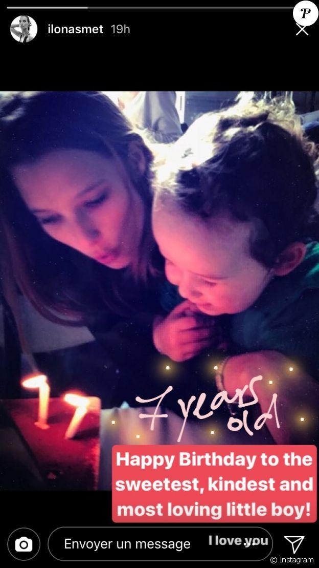 Ilona Smet célébrant l'anniversaire de son frère Giuliano le 29 novembre 2017