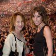 Exclusif - Nathalie Baye et sa fille Laura Smet - People au concert de Johnny Hallyday au POPB de Bercy a Paris - Jour 2. Le 15 juin 2013.