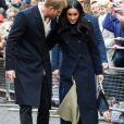 Le prince Harry et Meghan Markle arrivent au centre d'art contemporain de Nottingham  pour la journée mondiale de la lutte contre le sida du Terrence Higgins Trust, le 1er decembre 2017. Leur premier engagement officiel en couple après l'annonce de leurs fiançailles.