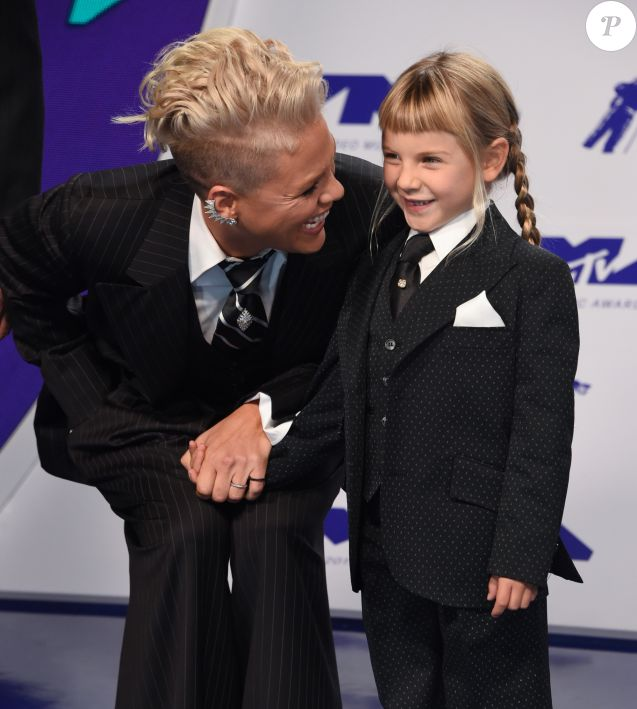 Pink et sa fille Willow Sage Hart à Inglewood, le 27 août 2017.