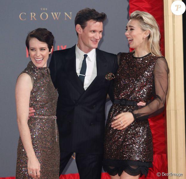 """Claire Foy, Matt Smith, Vanessa Kirby - Première de la saison 2 de la série """"The Crown"""" saison 2 à Londres. Le 21 novembre 2017 21/11/2017 - Londres"""