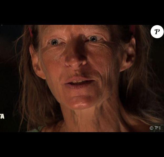 "Marguerite dans ""Koh-Lanta Fidji"" (TF1), vendredi 8 décembre 2017."