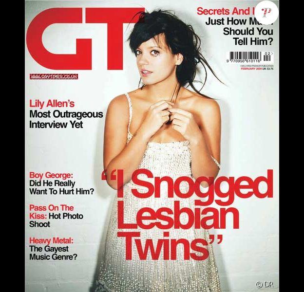Lily Allen pour Gay Times (édition du mois de février 2009)