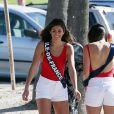 Exclusif - Lison Di Martino (Miss Ile-de-France 2017) - Les 30 prétendantes au titre de Miss France 2018 font du roller et du vélo dans le quartier de Venice à Los Angeles, Californie, Etats-Unis, le 28 novembre 2017.