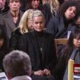 Laeticia Hallyday entourée de ses fils Jade et Joy aux obsèques de Johnny Hallyday à Paris. Le 9 décembre 2017.