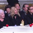Line Renaud, Sandrine Kiberlain aux obsèques de Johnny Hallyday à Paris. Le 9 décembre 2017.