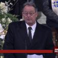 Jean Reno aux obsèques de Johnny Hallyday à Paris. Le 9 décembre 2017.