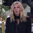 Sandrine Kiberlain aux obsèques de Johnny Hallyday à Paris. Le 9 décembre 2017.