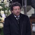 Patrick Bruel aux obsèques de Johnny Hallyday à Paris. Le 9 décembre 2017.