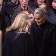 Laeticia Hallyday aux obsèques de Johnny Hallyday à Paris. Le 9 décembre 2017.