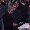Michel Drucker aux obsèques de Johnny Hallyday à Paris. Le 9 décembre 2017.