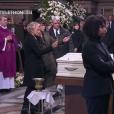Muriel Robin et Anne Le Nen aux obsèques de Johnny Hallyday à Paris. Le 9 décembre 2017.