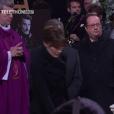 François Hollande et Julie Gayet aux obsèques de Johnny Hallyday à Paris. Le 9 décembre 2017.