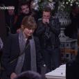 Julie Gayet aux obsèques de Johnny Hallyday à Paris. Le 9 décembre 2017.