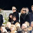 Brigitte Macron (Trogneux), David Hallyday, Laura Smet, Laeticia Hallyday, ses filles Jade et Joy devant l'église de la Madeleine pour les obsèques de Johnny Hallyday à Paris, France, le 9 décembre 2017. © Veeren/Bestimage