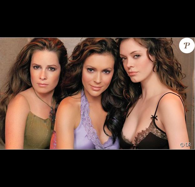Holly Mary Combs, Alyssa Milano et Rose McGowan dans Charmed
