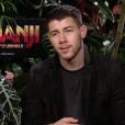 Nick Jonas en interview avec Purepeople pour le film Jumanji : Bienvenue dans la jungle.