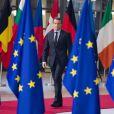 Le président Emmanuel Macron lors de la photo de famille des chefs d'état et de gouvernement de l'Union Européenne à Bruxelles le 14 décembre 2017.