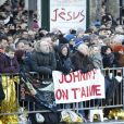 Obsèques de Johnny Hallyday en l'église La Madeleine à Paris, le 9 décembre 2017. © Christophe Aubert/Bestimage
