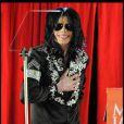 Michael Jackson à Londres le 5 mars 2009 pour une conférence de presse exclusive annonçant son retour sur scène