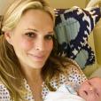 Molly Sims avec son fils, Grey, né le 10 janvier 2017.