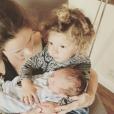 L'épouse de Jeff Goldblum,  Emilie Livingston avec son fils River et son aîné Charlie Ocean.