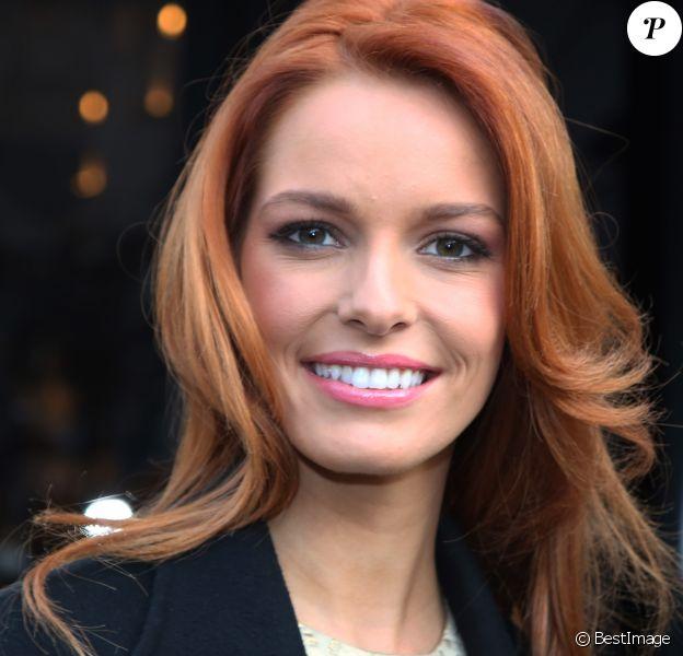 Maëva Coucke (Miss France 2018) au restaurant L'Avenue à Paris, le 18 décembre 2017. © Denis Guignebourg/Bestimage