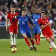 Florian Thauvin de l'OM en équipe de France lors du match contre le Pays de Galles le 10 novembre 2017 au Stade de France.
