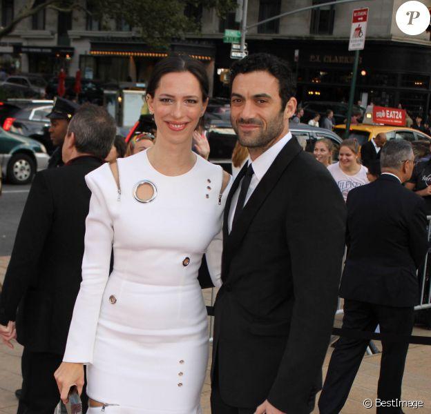 Rebecca Hall et son mari Morgan Spector arrivent au New York City Ballet 2017 au Lincoln Center à New York, le 28 septembre 2017.