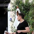 Exclusif - Amber Heard est allée prendre le petit-déjeuner avec son ex-compagnon Elon Musk au Sweet Butter Kitchen à Sherman Oaks. Los Angeles, le 16 novembre 2017.