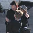 Elon Musk et Amber Heard avec l'un des fils du milliardaire à Sydney le 30 mai 2017