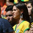 Bruna Marquezine, petite amie de Neymar, footballeur international brésilien, assiste au match Brésil contre Chili à Belo Horizonte city, le 28 juin 2014.
