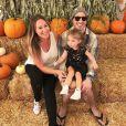 Hailey Duff, son fiancé Matt Rosenberg et leur fille Ryan. 2017.